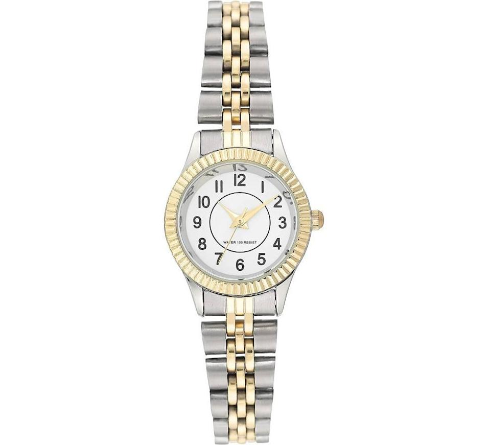 Amazon Essentials Women's Two Tone Bracelet Watch (Photo: Amazon)