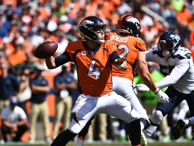 Case Keenum struggled on his debut with three interceptions but the Denver Broncos still beat the Seattle Seahawks (Reuters)
