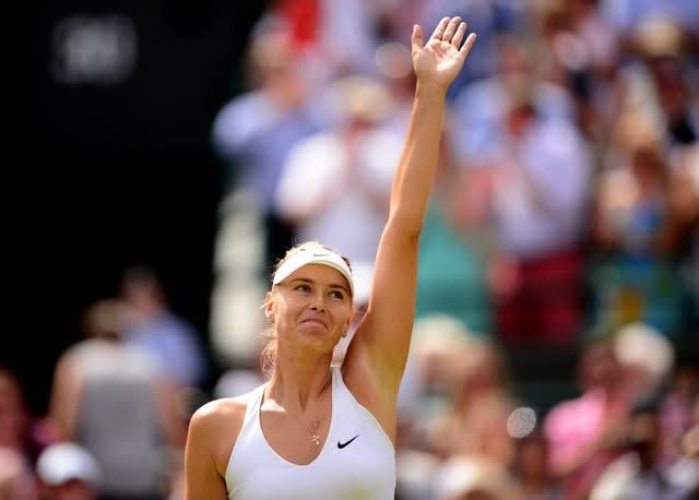 Maria Sharapova is bidding farewell to tennis at the age of 32 (Dominic Lipinski/PA)