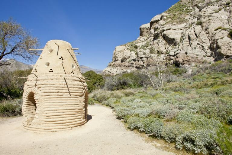"Sherin Guirguis' ""One I Call"" from the Desert X land art exhibit in the Coachella Valley of California"