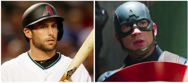 "Paul Goldschmidt is called ""America's Third Baseman."" (Images via AP and Zade Rosenthal/Walt Disney Studios Motion Pictures/Courtesy Everett Collection)"