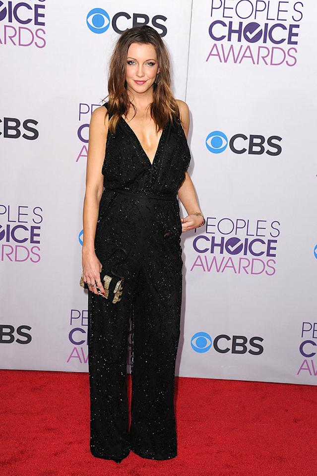 Katie Cassidy attends the 2013 People's Choice Awards at Nokia Theatre L.A. Live on January 9, 2013 in Los Angeles, California.