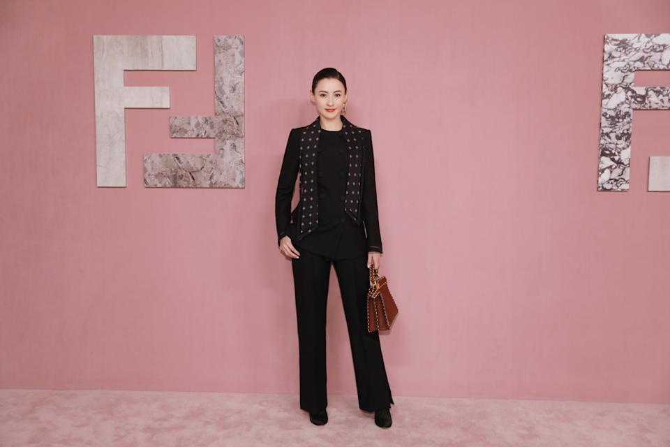 Actress Cecilia Cheung at Fendi Shanghai show. (PHOTO: Fendi)