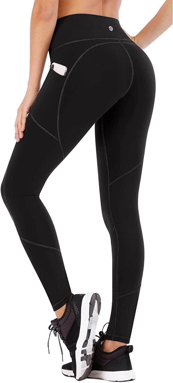 """<strong><h3>High-Waisted Leggings With Pockets</h3></strong><br>If you're in the market for a pair of ultra-soft, top-rated, basic black leggings, then this high-waisted and R29-audience approved has your number — and did we mention that it's currently 28% off, too? The spandex-polyester blend boasts over 7,000 reviews on Amazon as a Choice buy with reviewers raving the likes of """"Perfect for plus size!"""" to """"Great quality for a great price!"""" and """"Comfortable and stylish!"""".<br><br><strong>4.7 out of 5 stars and 7,551 reviews</strong><br><br><strong>Ewedoos</strong> High-Waisted Leggings With Pockets, $, available at <a href=""""https://amzn.to/3nOfwyX"""" rel=""""nofollow noopener"""" target=""""_blank"""" data-ylk=""""slk:Amazon"""" class=""""link rapid-noclick-resp"""">Amazon</a>"""
