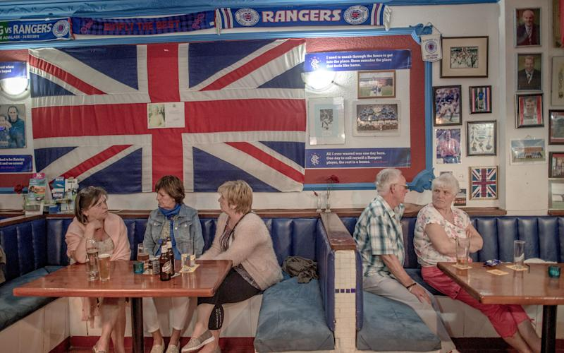 British tourists have drinks at a English bar on March 17, 2016 in Benalmadena, Spain - 2016 Getty Images