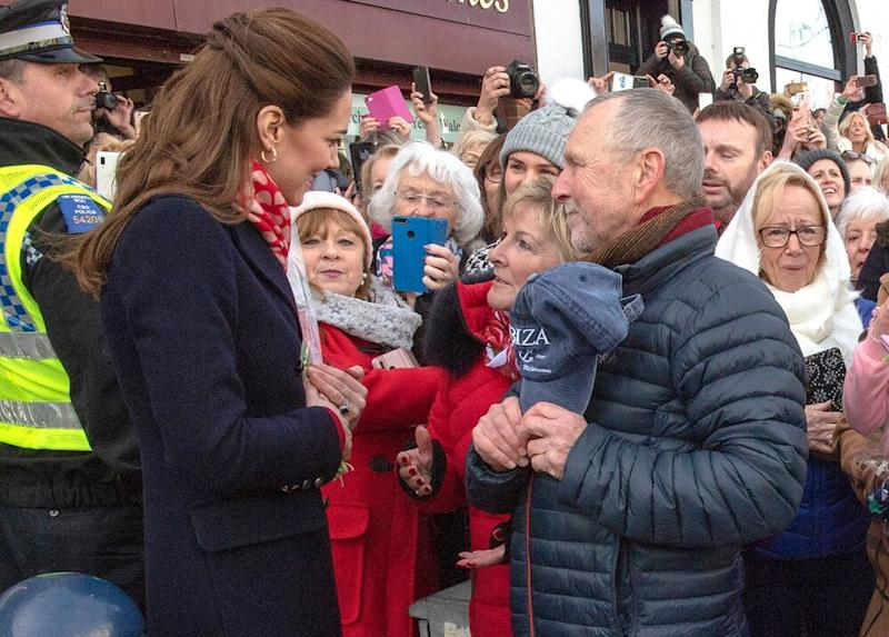 Kate Middleton meeting with Denise Evans-Alford and Kevin Alford | Arthur Edwards - WPA Pool/ Getty