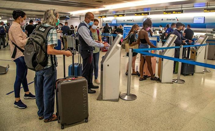 There were large crowds at Miami International Airport on Thursday, May 27, 2021, with more than 660,000 passengers expected during Memorial Day Weekend.