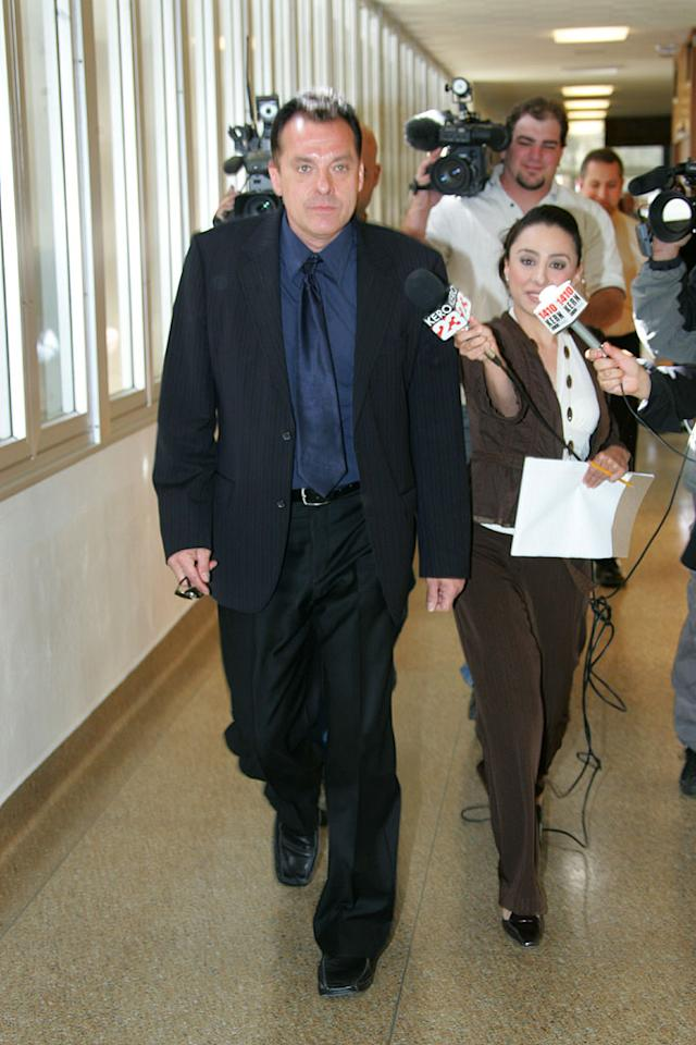 "Tom Sizemore is in no mood for interviews after he pleads guilty to drug felony charges in Bakersfield, California. London Entertainment/<a href=""http://www.splashnewsonline.com"" target=""new"">Splash News</a> - May 22, 2007"