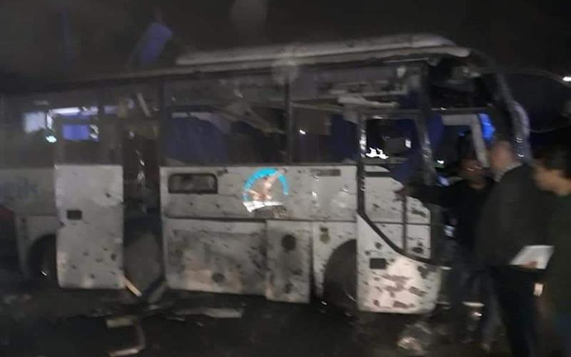 Aftermath of the terror attack on a tourist bus near the Giza pyramids - 007Nadia/Twitter