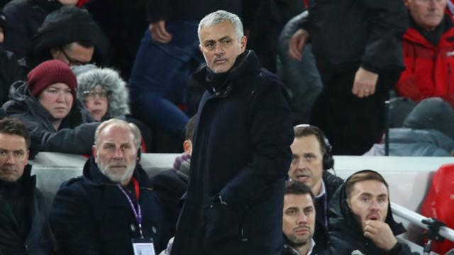 Manchester United slumped to a 3-1 defeat at Premier League leaders Liverpool and Jose Mourinho thinks fourth is the best they can achieve.