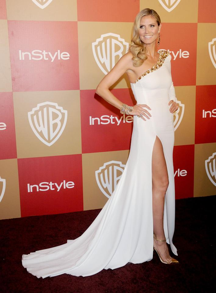 Heidi Klum shows you how it's done in all white!