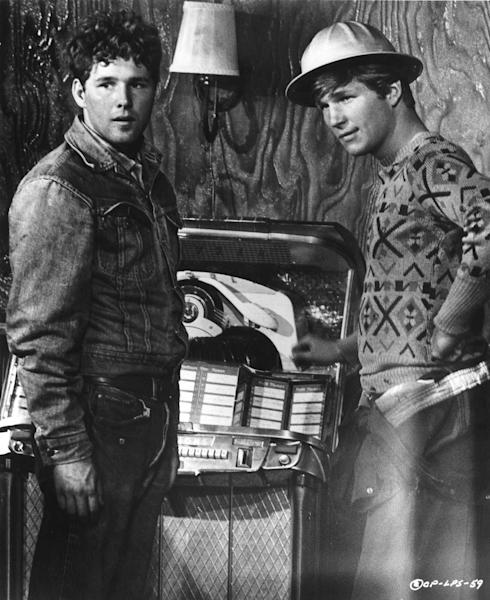 """FILE - In this 1971 film image originally released by Columbia Pictures, Timothy Bottoms, left, and Jeff Bridges are shown in a scene from """"The Last Picture Show"""". (AP Photo/Columbia Pictures, file)"""