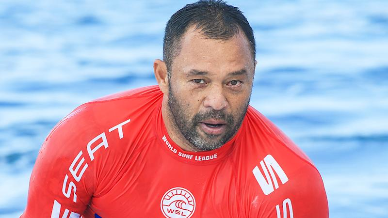 Sunny Garcia, pictured during a 2018 Masters surfing event, has been recovering from an attempt to take his own life in 2019.