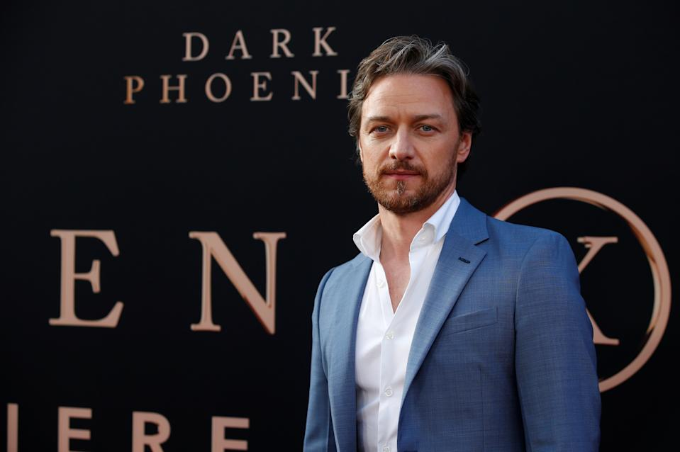 """Actor James McAvoy poses at the premiere for the film """"Dark Phoenix"""" in Los Angeles, California, U.S., June 4, 2019. REUTERS/Mario Anzuoni"""
