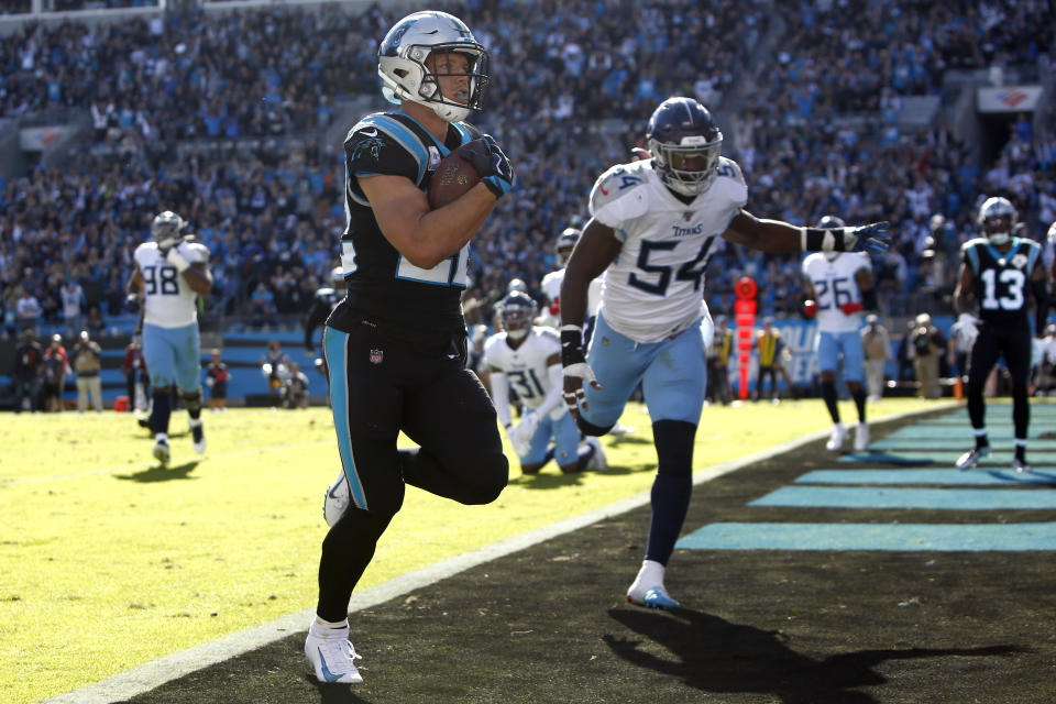 Could we see Carolina Panthers running back Christian McCaffrey on the NFL's opening night? (AP Photo/Brian Blanco)