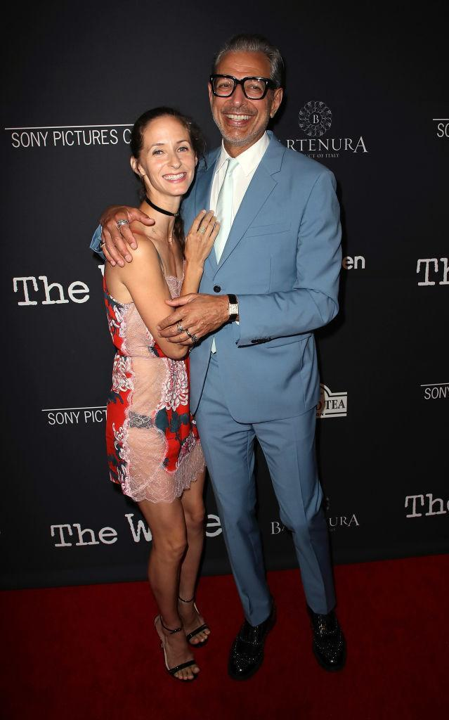 <p>On 23 July, Jeff Goldblum and Emilie Livingston attended the Los Angeles premiere of 'The Wife'. <em>[Photo: Getty]</em> </p>