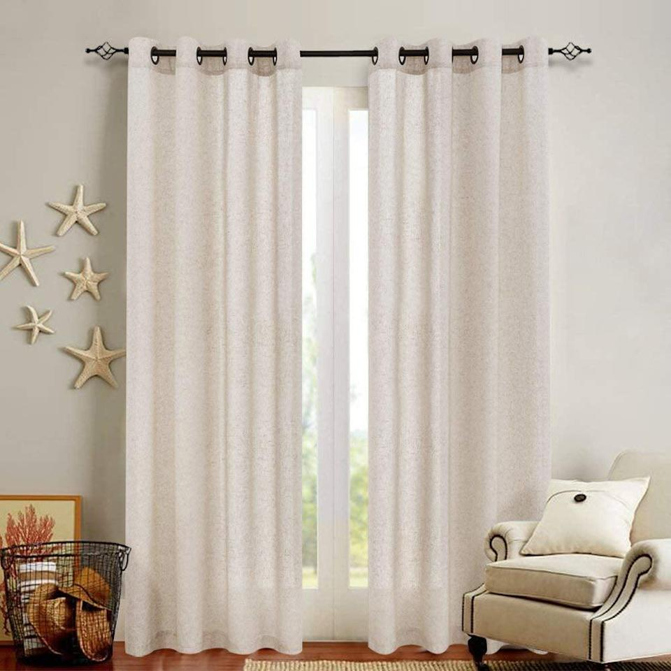 <p>Revamp your living room with these <span>Jinchan Linen Textured Curtains</span> ($30, originally $44).</p>