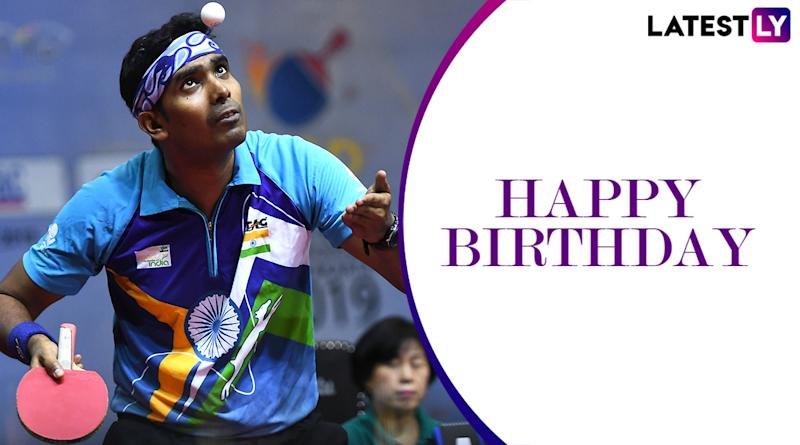 Achanta Sharath Kamal Birthday Special: Lesser-Known Facts About the Indian Table Tennis Star