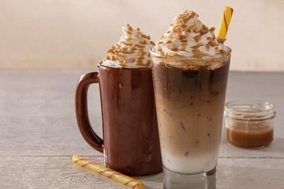 This fan favorite is back at Cracker Barrel stores across the country for a limited time and contains a blend of butterscotch and caramel flavors, finished with whipped cream, toffee almond crumbles, caramel drizzle and a butterscotch thin stick.