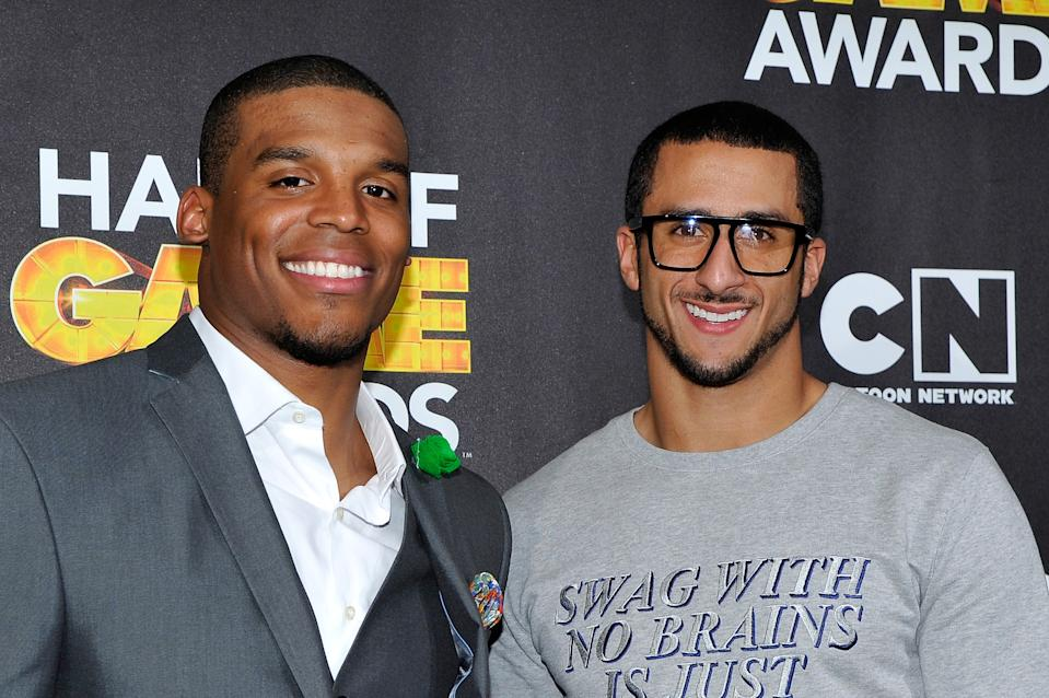 Cam Newton's deal may have cost Colin Kaepernick money. (Photo by John Sciulli/WireImage)