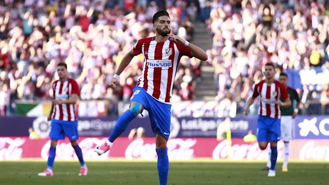 Atletico Madrid cruised to victory over Osasuna in LaLiga as Yannick Carrasco scored twice at Vicente Calderon on Saturday.