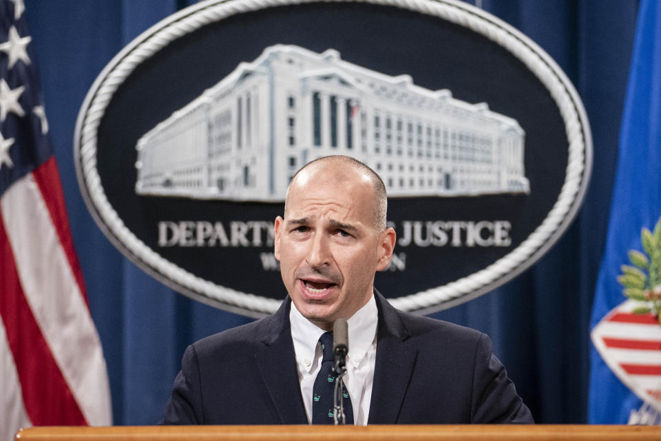 """Acting U.S. Attorney Michael Sherwin speaks during a news conference Tuesday, Jan. 12, 2021, in Washington. Federal prosecutors are looking at bringing """"significant"""" cases involving possible sedition and conspiracy charges in last week's riot at the U.S. Capitol. (Sarah Silbiger/AP)"""