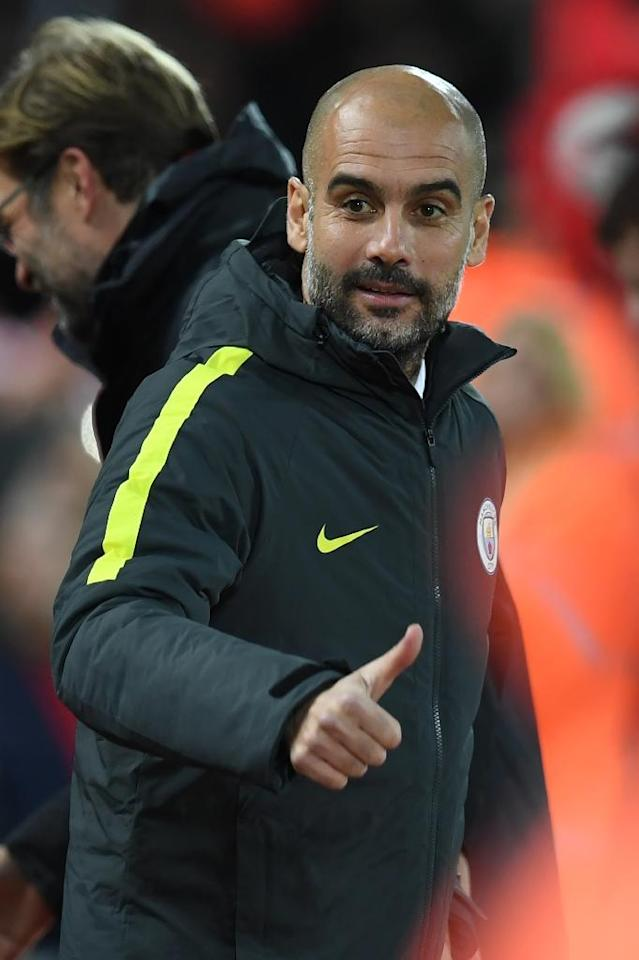 Manchester City's Spanish manager Pep Guardiola arrives for the English Premier League football match between Liverpool and Manchester City at Anfield in Liverpool, north west England on December 31, 2016 (AFP Photo/Paul ELLIS)