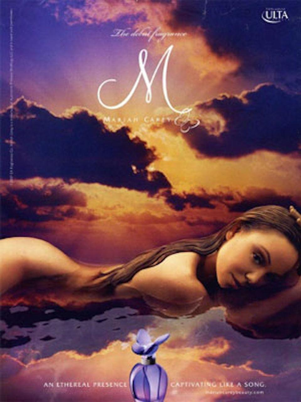 <p>Obsessed with the concept for this ad being Mariah Carey flopped face-first in what appears to be a puddle. </p>
