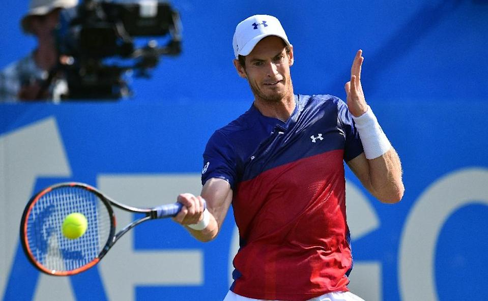 Andy Murray (pictured) lost to journeyman Australian Jordan Thompson in the first round of Queen's in London (AFP Photo/GLYN KIRK)