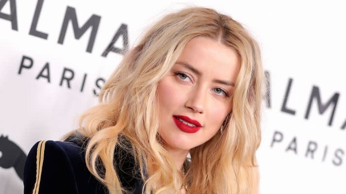 I Need All the Tea on Amber Heard's Perfect Red Lipstick