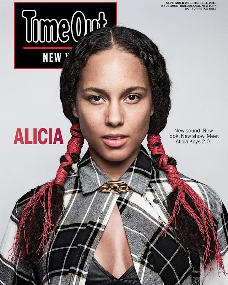 Birthday Girl Alicia Keys's Most Glamorous Makeup-Free Moments