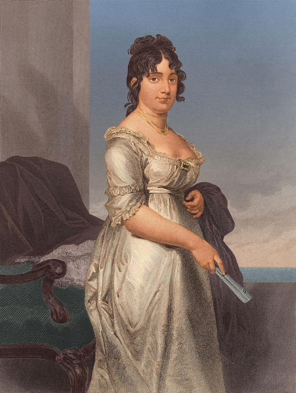 <p>Throwback to 1809. Dolley Madison was the wife of former president James Madison, and was often criticized for showing a little more cleavage than usual for the times. </p>