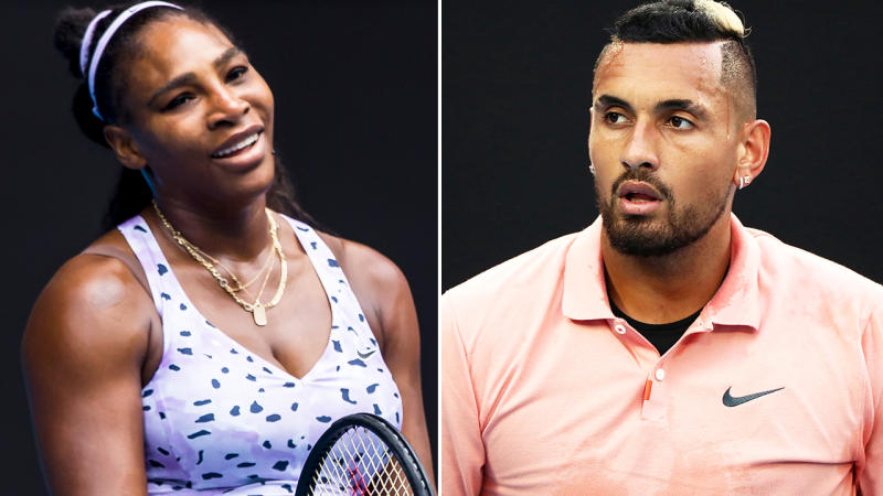 Serena Williams and Nick Kyrgios, pictured here at the Australian Open.