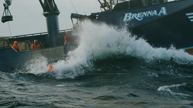 The <em>Brenna A</em> vs. the Bering Sea. (Photo: Discovery)