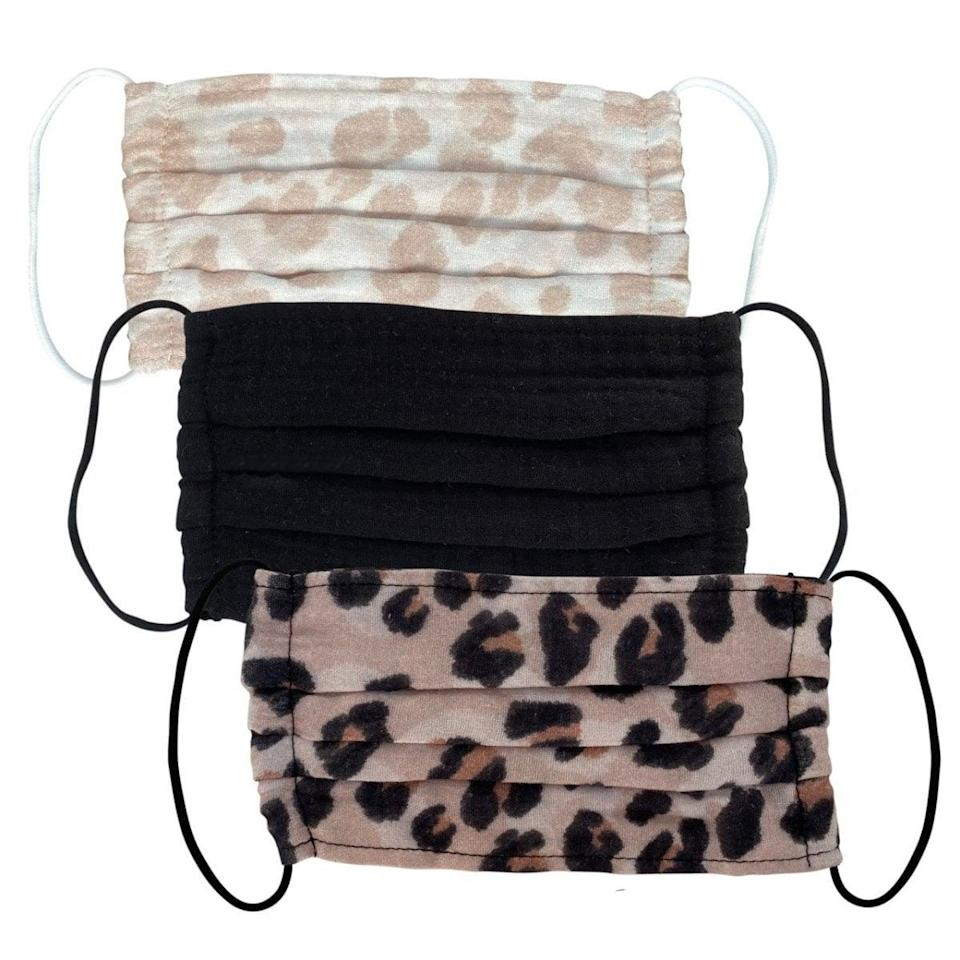 """<p>""""Hair accessory and wellness brand Kitsch makes these <span>3-Piece Kitsch Cotton Face Masks</span> ($12), and I love the leopard print. They're soft, comfortable to wear, washable, and actually fit my face unlike other masks. There are a few different sets besides this one sold on the site. Kitsch is also female owned!"""" - SB</p>"""