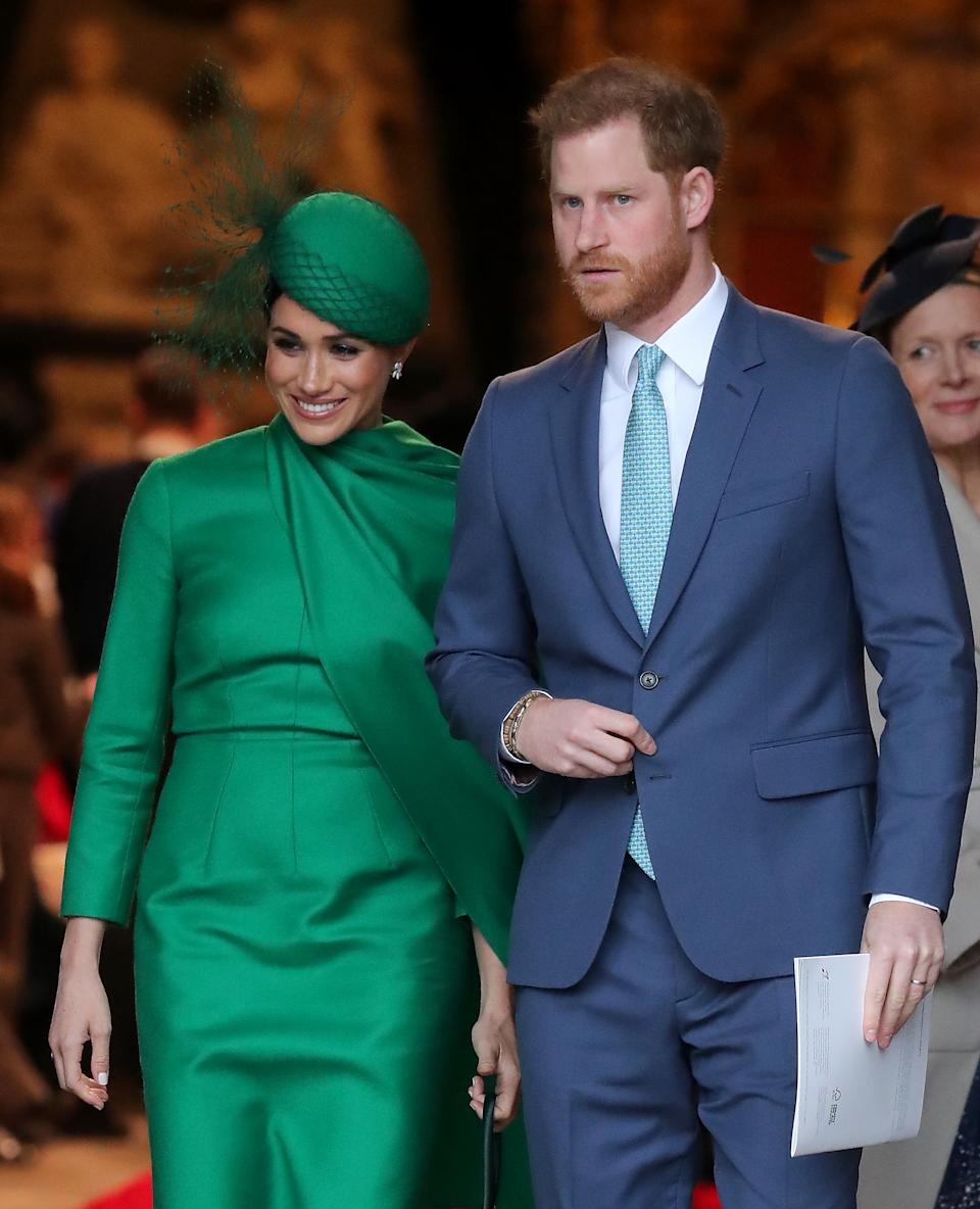 Princípe Harry e Meghan (Foto: Jackson/Getty Images)