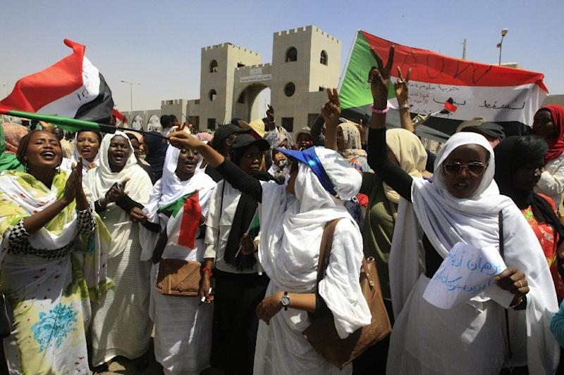 Sudanese women have been at the forefront of the protests (AFP Photo/Ebrahim Hamid)