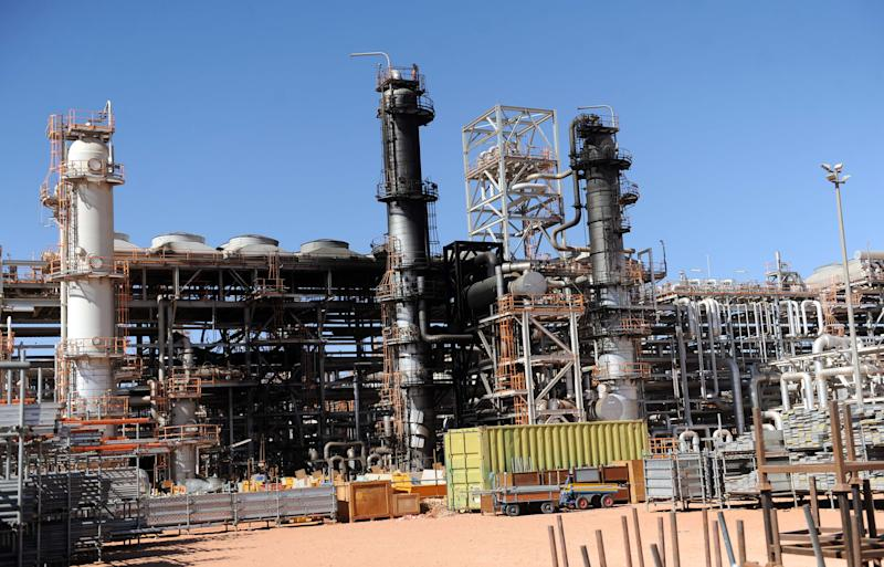 FILE - This Jan. 31, 2013, file photo shows a part of the gas plant in Ain Amenas seen during a visit for news media organized by the Algerian authorities. New corruption scandals are shining a fresh spotlight on Sonatrach, which jointly with BP and Norway's Statoil runs the desert gas plant that was the scene of a bloody hostage standoff last month. (AP Photo/File)