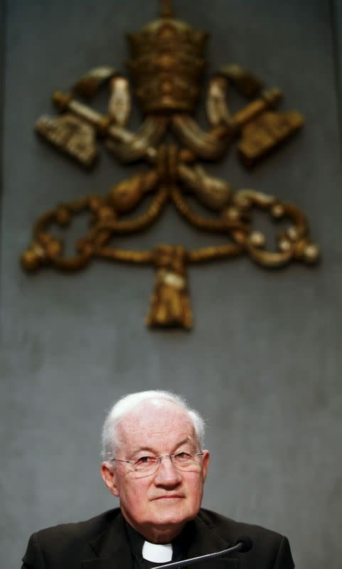 FILE PHOTO: Cardinal Marc Ouellet attends a news conference to announce the canonisation of Fray Junipero Serra at the Vatican