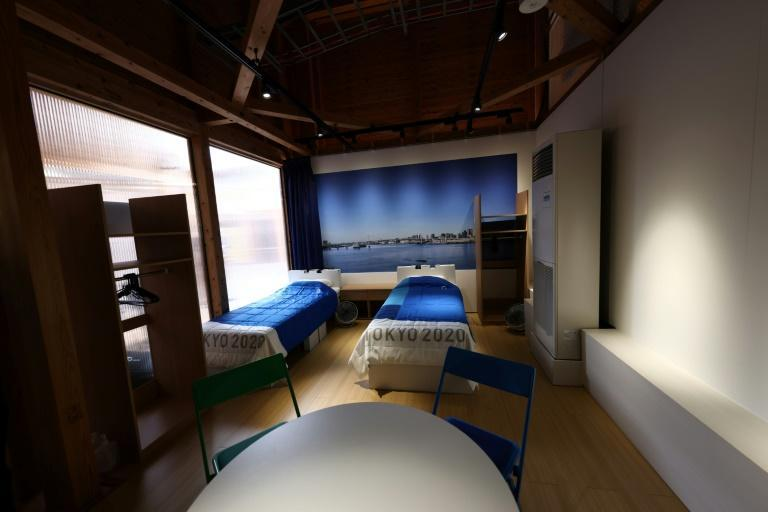 Beds at the Olympic Village are made out of recyclable cardboard