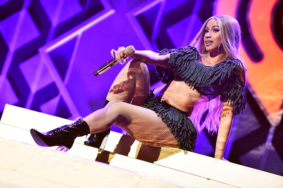 Cardi B performs at Z100's Jingle Ball 2018 at Madison Square Garden in New York City on Dec. 7, 2018. (Photo: Getty Images)