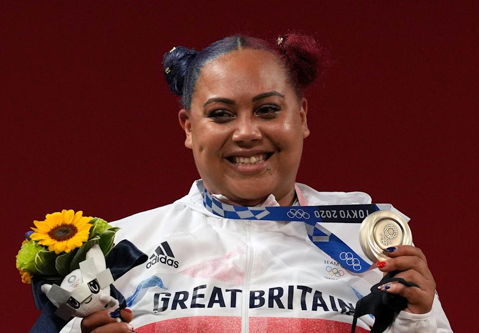 Emily Campbell claimed Britain's first female Olympic weightlifting medal (Martin Rickett/PA) (PA Wire)