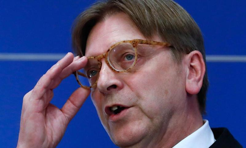 Guy Verhofstadt, the European parliament's Brexit negotiator