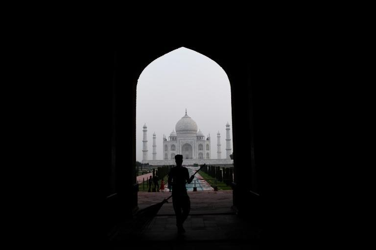The Taj Mahal usually draws seven million visitors a year but under social distancing rules, daily numbers are now capped at 5,000