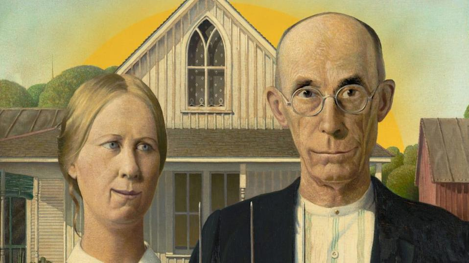 Photo Illustration by Elizabeth Brockway/The Daily Beast/Grant Wood, American Gothic