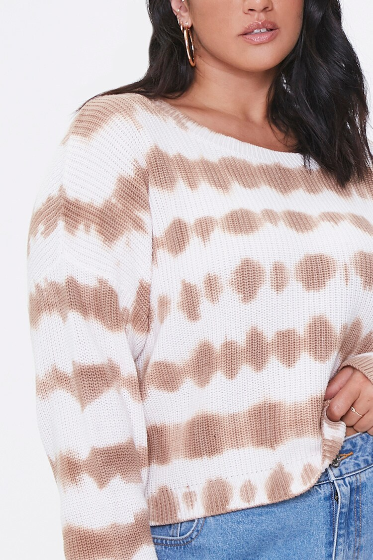 """<br><br><strong>Forever 21</strong> Plus Size Tie-Dye Sweater, $, available at <a href=""""https://go.skimresources.com/?id=30283X879131&url=https%3A%2F%2Fwww.forever21.com%2Fus%2FShop%2FCatalog%2FProduct%2Fplus%2Fplus_size-main%2F2000410344%2F02"""" rel=""""nofollow noopener"""" target=""""_blank"""" data-ylk=""""slk:Forever 21"""" class=""""link rapid-noclick-resp"""">Forever 21</a>"""