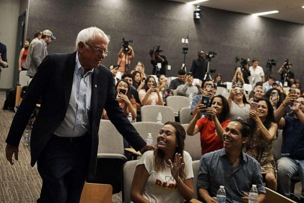 PHOTO: Sen. Bernie Sanders (I-Vt.), a candidate for the Democratic nomination for president, arrives for a town hall event in Las Vegas, Sept. 14, 2019. (Bridget Bennett/The New York Times via Redux)