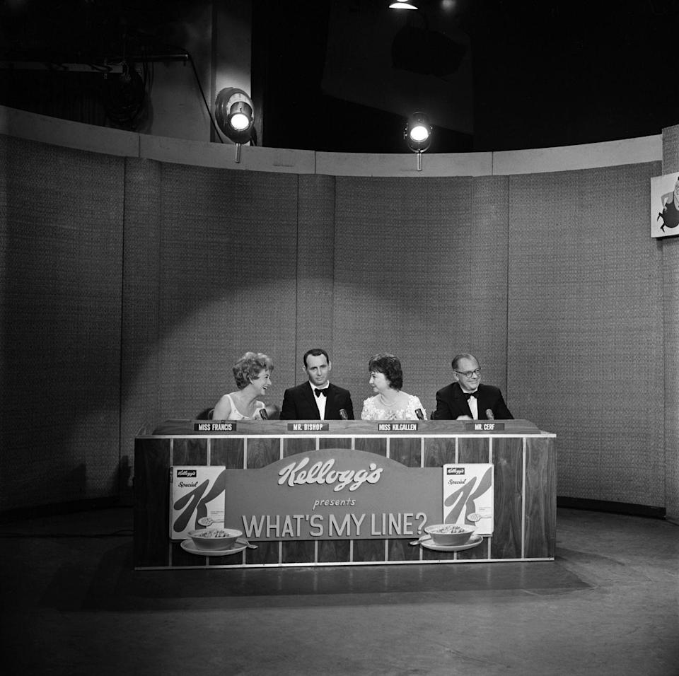 <p>Starting in 1950 on CBS, this game show featured a panel of celebrities that tried to figure out a contestant's profession (AKA their line…of work). There was also a famous mystery guest that the panelists had to guess. The classic aired until 1967, almost entirely in black and white. It returned in syndication through 1975.</p>