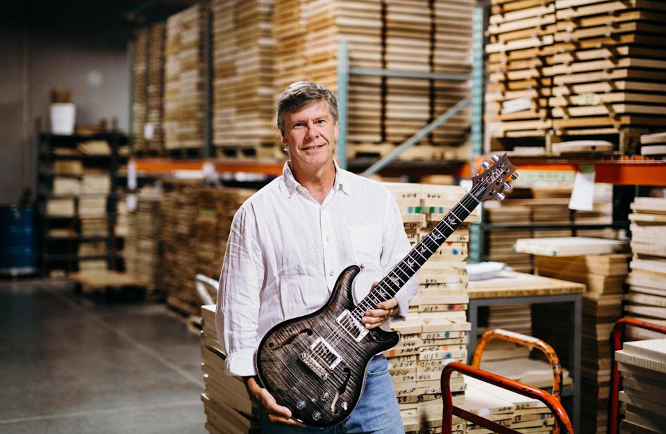 Jack Higginbotham, COO at PRS, in the workshop. (Picture: Paul Reed Smith)