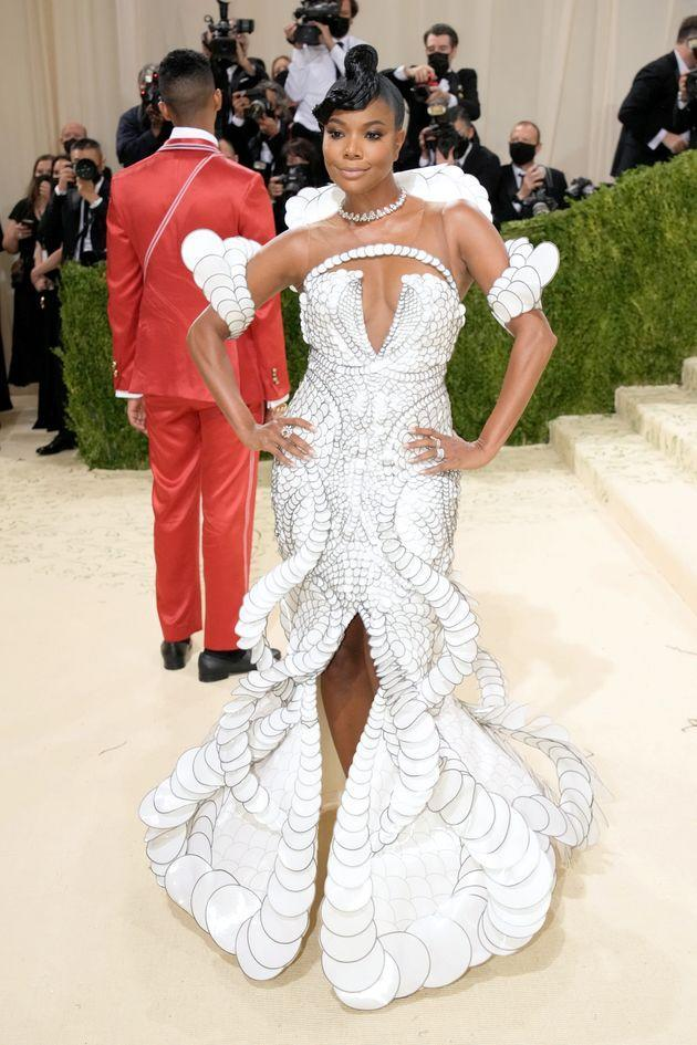 Gabrielle Union at the 2021 Met Gala at the Metropolitan Museum of Art on Sept. 13 in New York City. (Photo: Jeff Kravitz via Getty Images)